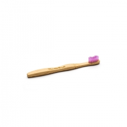 The Humble Szczoteczka do zębów dla dzieci, bambusowa ultrasoft różowa