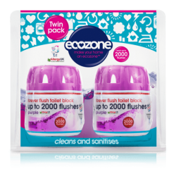 Ecozone Forever Flush TWIN PACK INDIGO Zestaw 2 ekologicznych kostek do WC  2 x do 2000 spłukań