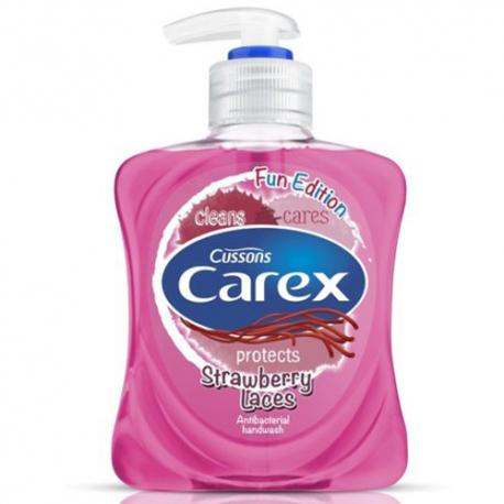 Carex - Strawberry Laces - Antybakteryjne mydło do rąk w płynie 250 ml