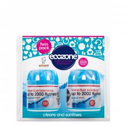 Zestaw 2 ekologicznych kostek do toalety - Ecozone, Forever Flush TWIN PACK 2 x do 2000 spłukań