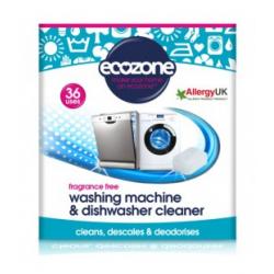 Tabletki do odkamieniania oraz czyszczenia pralek i zmywarek, Bezzapachowe, 36 szt., Ecozone
