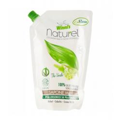 Mydło do mycia rąk i twarzy z ekstraktami organicznymi z zielonej herbaty, brzozy i aloesu, uzupełnienie, 500 ml, Winni's