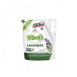 Płyn do prania wszystkich rodzajów tkanin, także delikatnych i kolorowych ubrań, Lawenda, 1,25l, uzupełnienie, Winni's
