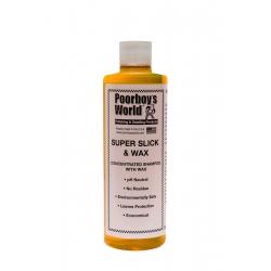 Poorboy's World Super Slick & Wax - Skoncentrowany szampon samochodowy z woskiem, pH neutralne.