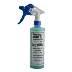 Poorboy's World Spray & Wipe - quick detailer, 473ml