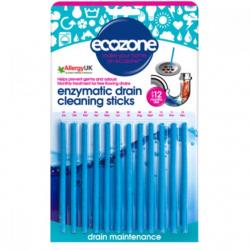 Ecozone Patyczki czyszczące do odpływów enzymatyczne, 12szt.