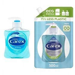 Zestaw mydeł antybakteryjnych Carex Original 500ml + Carex Original 250ml