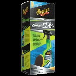 Meguiar's Hybrid Ceramic Quik Clay Kit - Zestaw do glinkowania lakieru