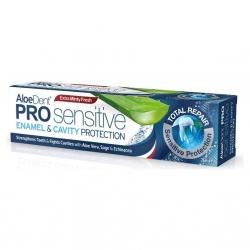 AloeDent Pro Sensitive pasta do zębów chroniąca szkliwo i zapobiegająca próchnicy 100 ML