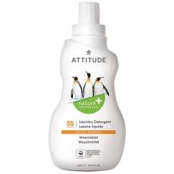Attitude Płyn do prania, Skórka Cytrynowa (Citrus Zest) 35 prań, 1050 ml