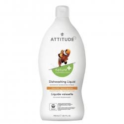 Attitude, Płyn do mycia naczyń, Skórka Cytrynowa, 700 ml
