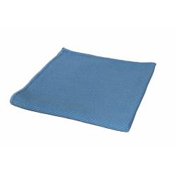 Alplast - Ścierka do szyb 40x40 cm - diamentowy wzór - niebieska